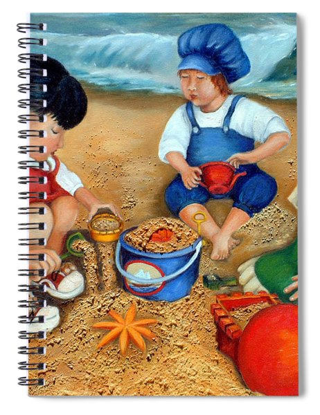 Playtime At The Beach Spiral Notebook
