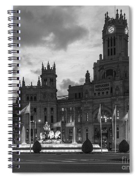 Plaza De Cibeles Fountain Madrid Spain Spiral Notebook