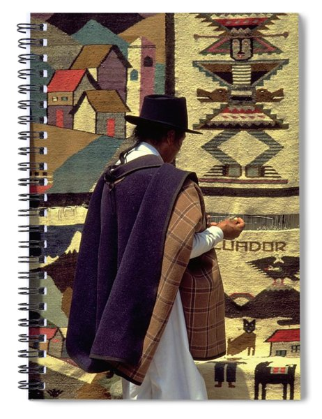Spiral Notebook featuring the photograph Plaza De Ponchos by Travel Pics