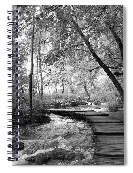 Plitvice In Black And White Spiral Notebook