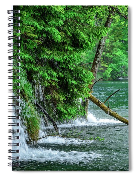 Plitvice Lakes National Park, Croatia - The Intersection Of Upper And Lower Lakes Spiral Notebook