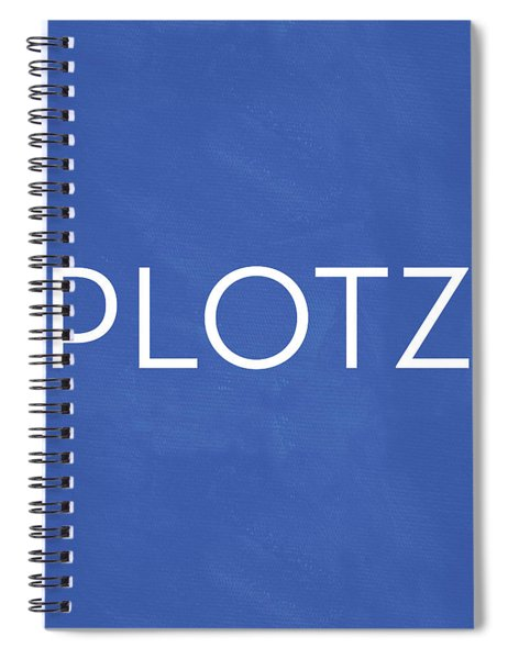 Plotz- Art By Linda Woods Spiral Notebook