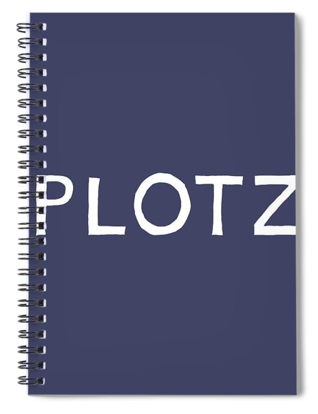 Plotz In Navy And White- Art By Linda Woods Spiral Notebook