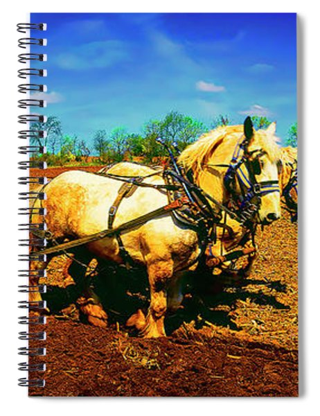 Plow Days Freeport  Il Draft Horses  Spiral Notebook