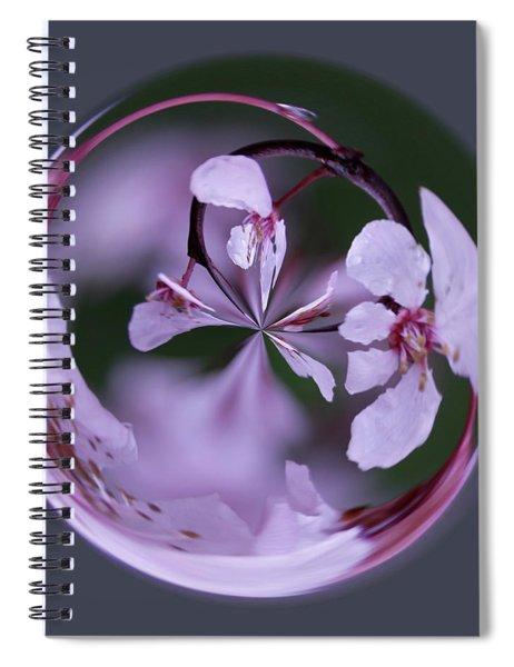 Plum Tree Orb Spiral Notebook