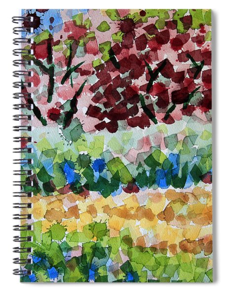 Plum Trees In Spring Spiral Notebook