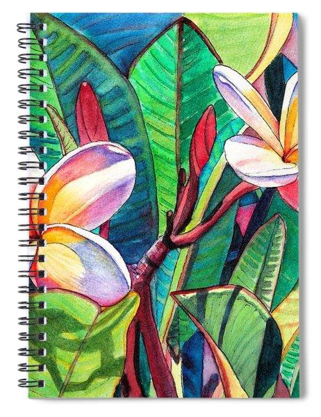 Plumeria Garden Spiral Notebook