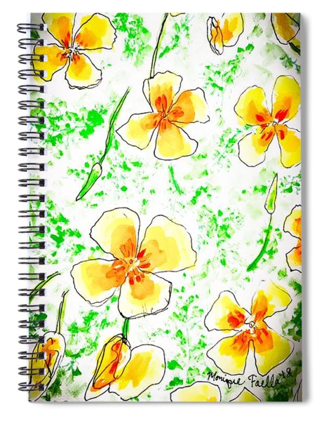 Pocket Full Of Poppies Spiral Notebook