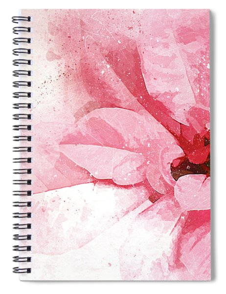 Poinsettia Abstract Spiral Notebook