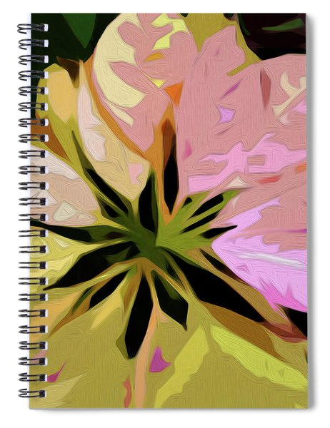 Spiral Notebook featuring the digital art Poinsettia Tile by Gina Harrison