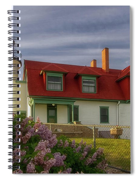 Spiral Notebook featuring the photograph Point Betsie 1 by Heather Kenward