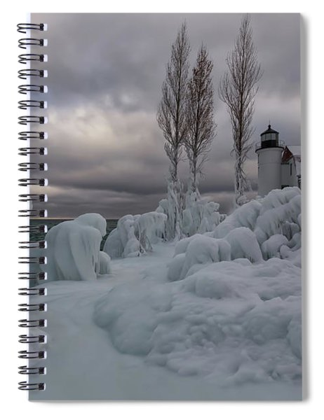 Spiral Notebook featuring the photograph Point Betsie 10 by Heather Kenward