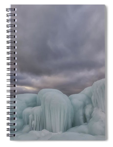 Spiral Notebook featuring the photograph Point Betsie 11 by Heather Kenward