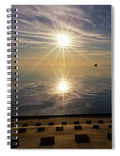 Spiral Notebook featuring the photograph Point Betsie 2 by Heather Kenward