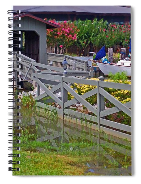 Point Clear Bridge At Grand Hotel Spiral Notebook