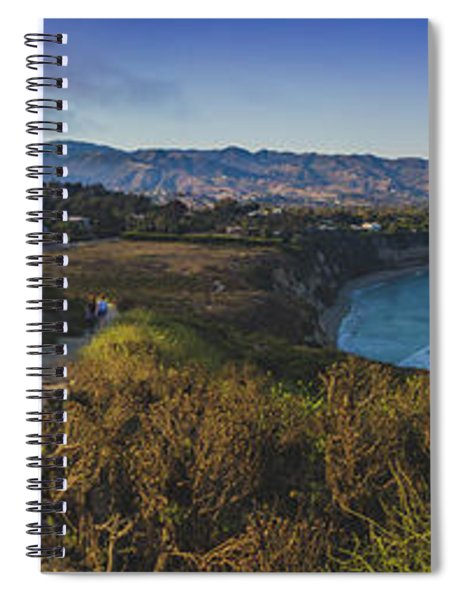 Point Dume Sunset Panorama Spiral Notebook