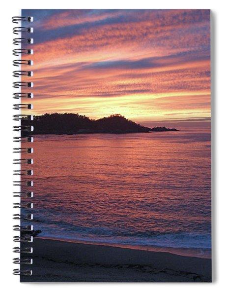 Point Lobos Red Sunset Spiral Notebook