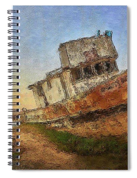 Point Reyes Boat Spiral Notebook