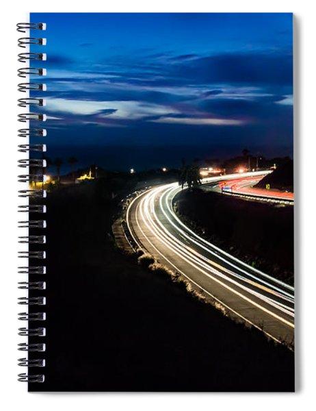 Point Vincente Light Trails Spiral Notebook