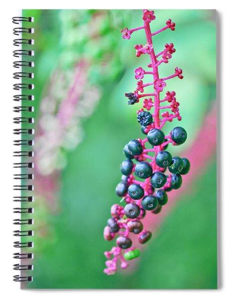 Poke Berries Spiral Notebook