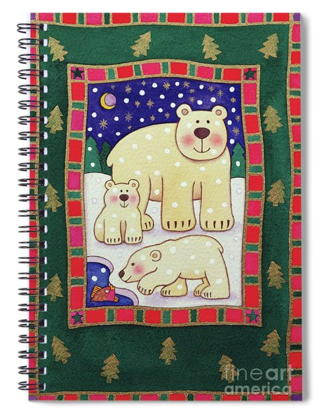 Polar Bear And Cubs Spiral Notebook