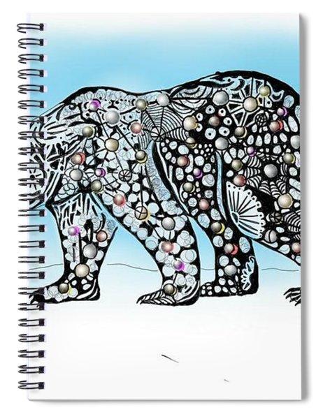 Polar Bear Doodle Spiral Notebook
