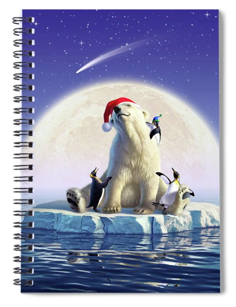 Polar Season Greetings Spiral Notebook