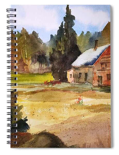 Polebridge Mt Cabin Spiral Notebook
