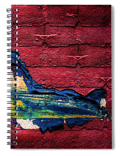 Police Car Abstract Spiral Notebook