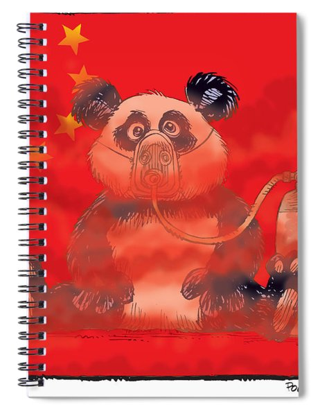 Pollution In China Spiral Notebook