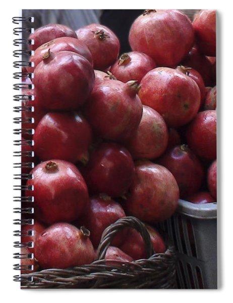 Pomegranates At Jerusalem's Old City Market Spiral Notebook