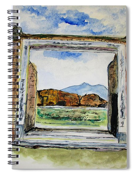 Pompeii Doorway Spiral Notebook