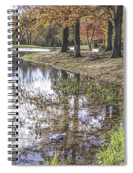 Pond Bench Ponderings Spiral Notebook