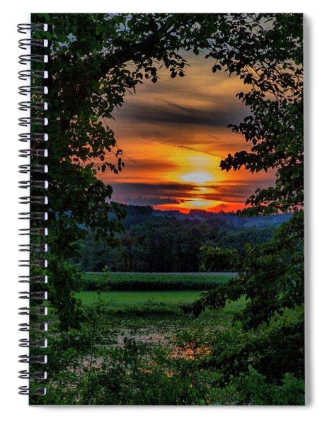 Pond Sunset  Spiral Notebook