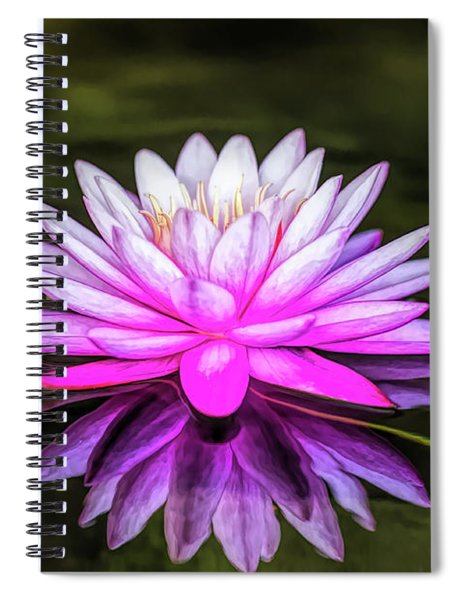 Pond Water Lily Spiral Notebook