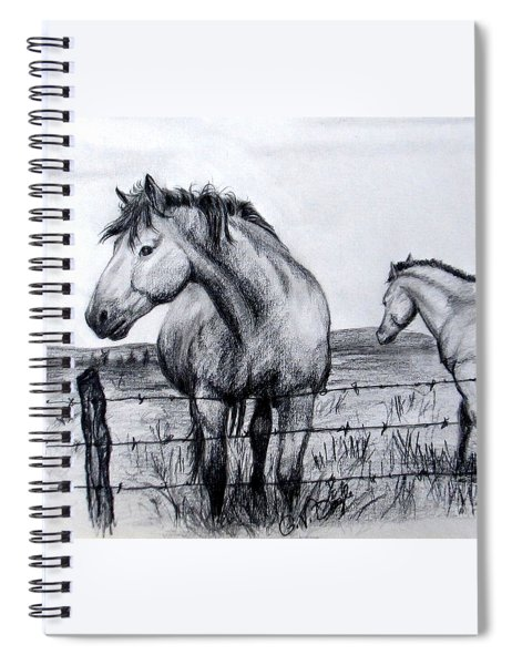 Ponder Texas Horses Spiral Notebook