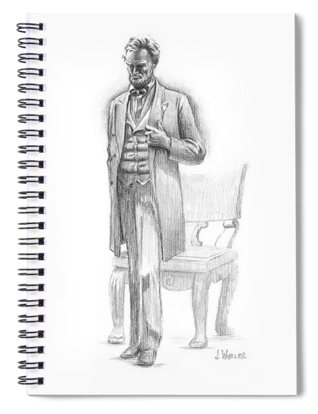 Pondering Lincoln Spiral Notebook