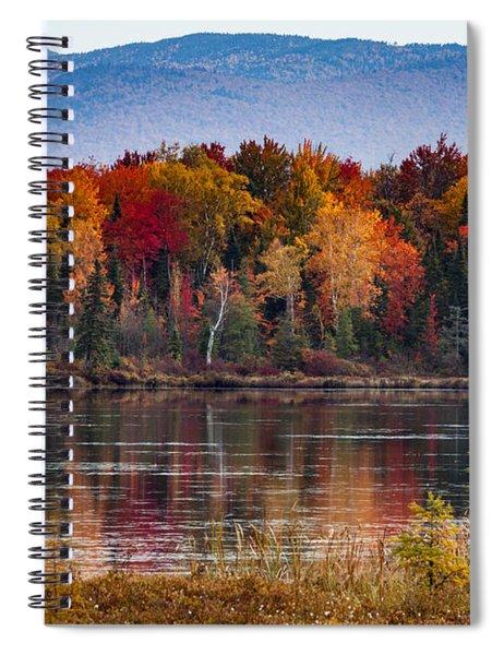 Pondicherry Fall Foliage Reflection Spiral Notebook