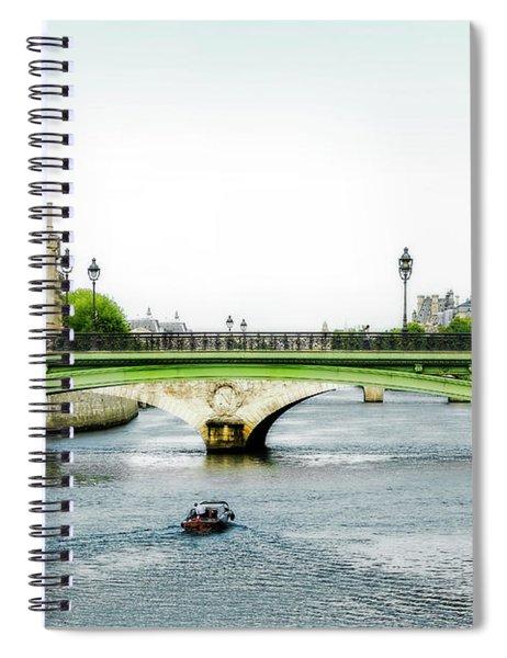 Pont Au Change Over The Seine River In Paris Spiral Notebook