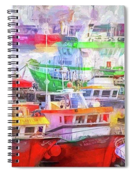 Ponta Delgada Boats Spiral Notebook
