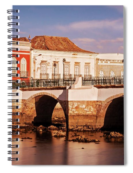 Spiral Notebook featuring the photograph Ponte Romana And River Gilao- Tavira by Barry O Carroll