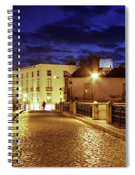Spiral Notebook featuring the photograph Ponte Romana At Blue Hour / Tavira, Portugal by Barry O Carroll