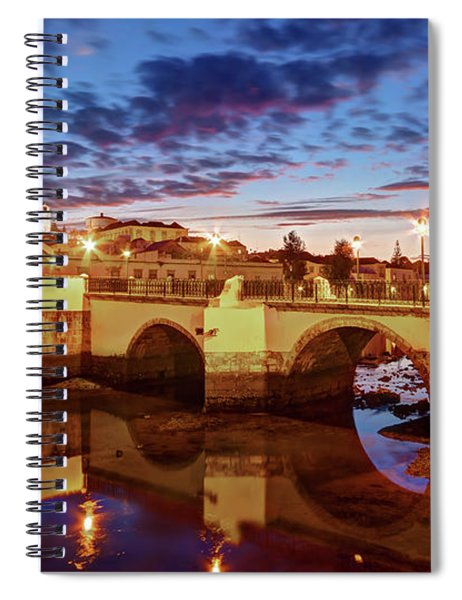 Spiral Notebook featuring the photograph Ponte Romana At Dusk - Tavira, Portugal by Barry O Carroll
