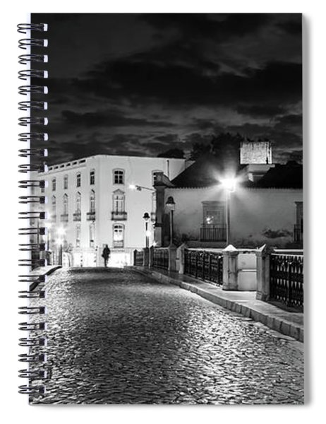 Spiral Notebook featuring the photograph Ponte Romana At Night - Tavira, Portugal by Barry O Carroll