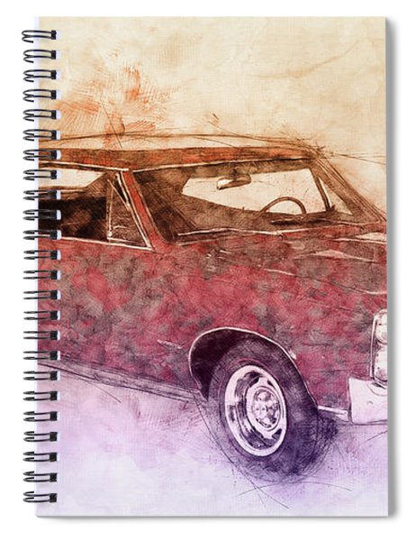 Pontiac Gto 3 - 1967 - Automotive Art - Car Posters Spiral Notebook