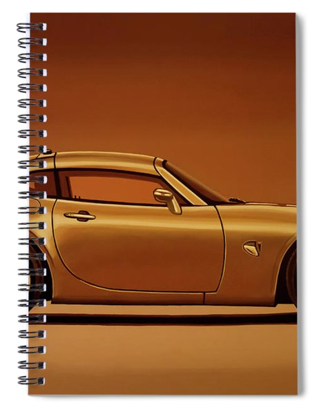 Pontiac Solstice Coupe 2009 Painting Spiral Notebook