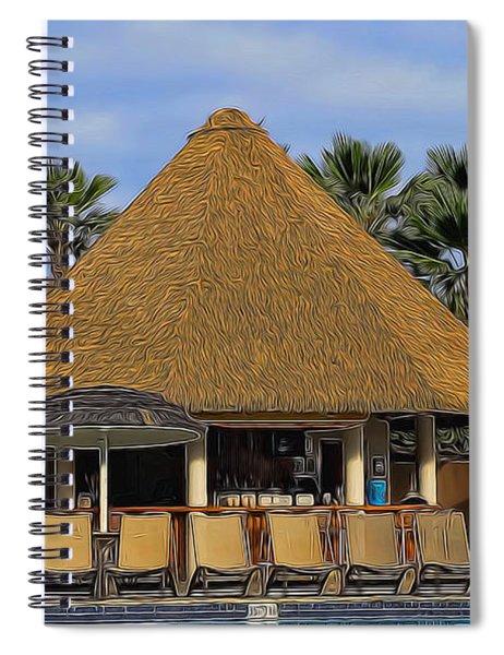 Poolside Drinks Spiral Notebook