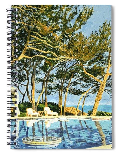 Poolside Sunset - Monaco Spiral Notebook