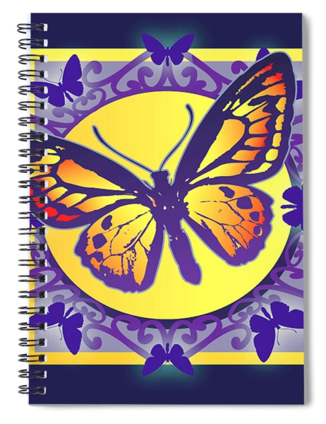 Pop Art Butterfly Spiral Notebook