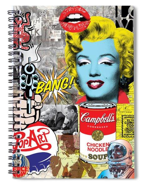 Pop Art Montage Spiral Notebook